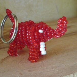 Beautiful red bead toy of Elephant