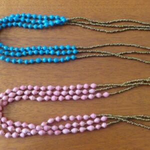 Beautiful blue and pink bead necklaces